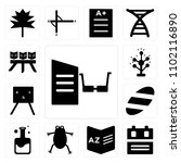 set of 13 icons such as reading ...