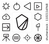 set of 13 icons such as shield  ... | Shutterstock .eps vector #1102116968