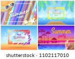 summer landscape or beach... | Shutterstock .eps vector #1102117010