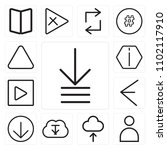 set of 13 icons such as order ...