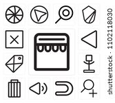 set of 13 icons such as store ...
