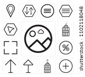set of 13 icons such as picture ...