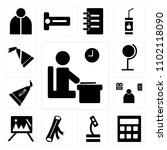 set of 13 icons such as exam ...