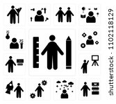 set of 13 icons such as student ...