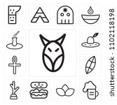 set of 13 icons such as animal  ...