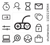 set of 13 icons such as gamepad ...