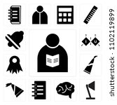 set of 13 icons such as teacher ...