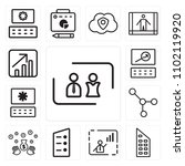set of 13 icons such as partner ...