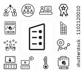 set of 13 icons such as list ...