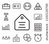 set of 13 icons such as tag ...