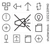 set of 13 icons such as mute ...