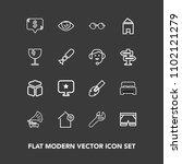 modern  simple vector icon set...   Shutterstock .eps vector #1102121279