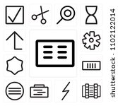 set of 13 icons such as cit...