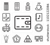 set of 13 icons such as wallet  ...