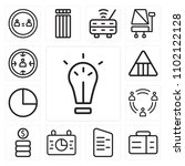 set of 13 icons such as idea ...