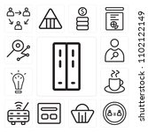 set of 13 icons such as folders ...