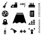 set of 13 icons such as uniform ...
