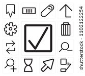 set of 13 icons such as correct ...