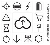set of 13 icons such as upload  ... | Shutterstock .eps vector #1102122938