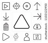 set of 13 icons such as up...
