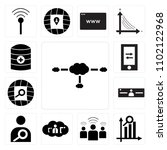 set of 13 icons such as cloudes ...