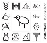 set of 13 icons such as kiwi ...