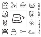 set of 13 icons such as hat ...