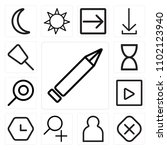 set of 13 icons such as edit ...