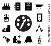 set of 13 icons such as paint...