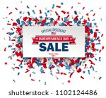 paper label with confetti for... | Shutterstock .eps vector #1102124486