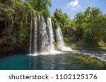 turkey antalya duden waterfall | Shutterstock . vector #1102125176