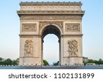 the triumphal arch  champs elys ...   Shutterstock . vector #1102131899