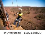rope access miner worker... | Shutterstock . vector #1102135820
