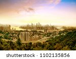aerial view of the city skyline ... | Shutterstock . vector #1102135856