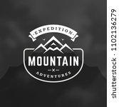 mountain logo design template... | Shutterstock .eps vector #1102136279