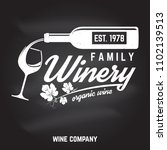 family winery badge  sign or... | Shutterstock .eps vector #1102139513