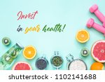 healthy eating and lifestyle... | Shutterstock . vector #1102141688