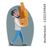 office relocation box cargo... | Shutterstock .eps vector #1102154969