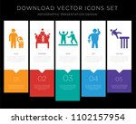 5 vector icons such as call... | Shutterstock .eps vector #1102157954