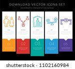 5 vector icons such as family... | Shutterstock .eps vector #1102160984