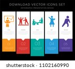 5 vector icons such as business ... | Shutterstock .eps vector #1102160990