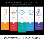 5 vector icons such as light... | Shutterstock .eps vector #1102163399