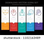 5 vector icons such as heart ... | Shutterstock .eps vector #1102163489