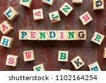 letter block in word pending... | Shutterstock . vector #1102164254
