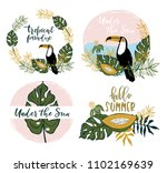 summer vacations   collection... | Shutterstock .eps vector #1102169639