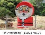 Santa Claus Painted On Round...