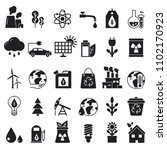 monochrome icons set of ecology.... | Shutterstock . vector #1102170923