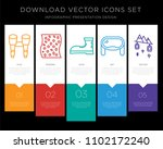 5 vector icons such as... | Shutterstock .eps vector #1102172240