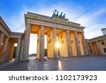 berlin brandenburg gate... | Shutterstock . vector #1102173923