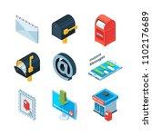 diffrent postal symbols.... | Shutterstock . vector #1102176689